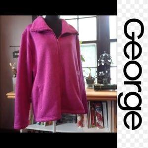 4/$15 Size 2XL plus purple fleece jacket sweater